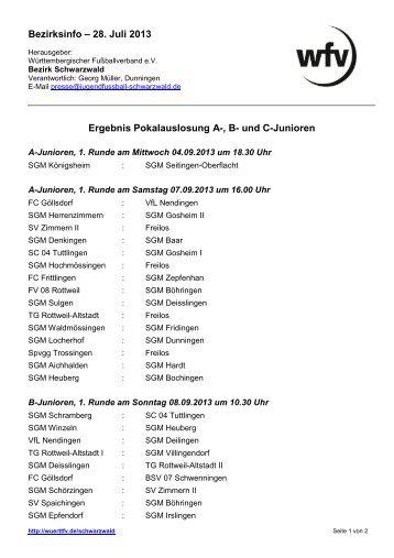 und C-Junioren - Jugendfußball Bezirk Schwarzwald