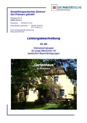 Leistungsbeschreibung Gartenhaus Priemern - Gut Priemern