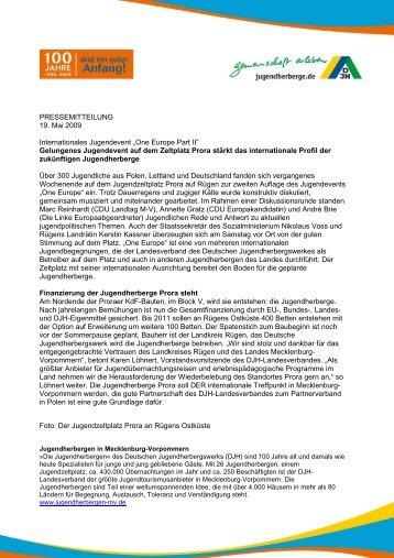 One Europe Part II - DJH Jugendherbergen Mecklenburg ...