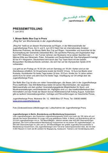 "1. Binzer Baltic Box Cup in Prora ""Ring frei"" - DJH Jugendherbergen ..."
