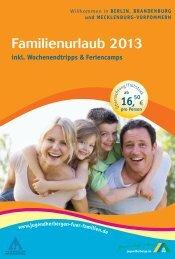 Familienurlaub 2013 - Jugendherbergen für Familien
