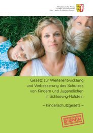 Kinderschutzgesetz - Schleswig-Holstein