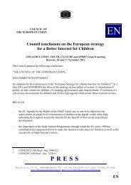 E Council conclusions on the European strategy for a ... - Europa