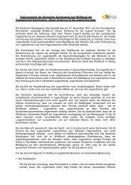 Stellungnahme dsj - Jugendpolitik in Europa