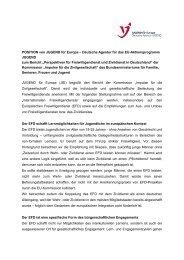 POSITION von JUGEND für Europa zum Bericht - Jugendpolitik in ...