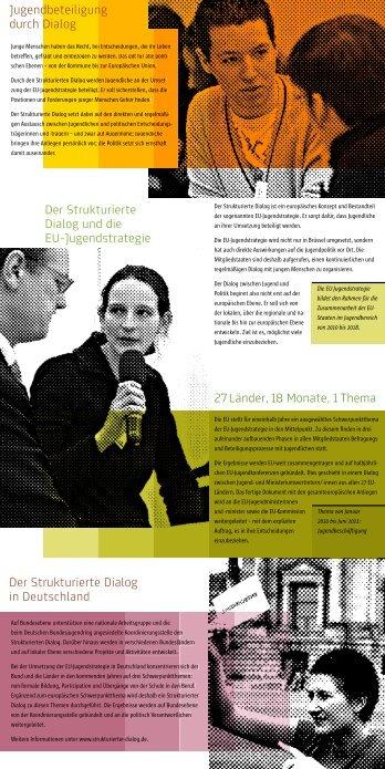 Flyer zum Strukturierten Dialog - Jugendpolitik in Europa