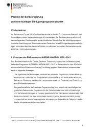 Position der Bundesregierung Position zum EU-Jugendprogramm ...