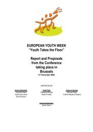 Youth Takes the Floor - Jugendpolitik in Europa