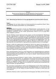 Bewertung des Rahmens für die jugendpolitische Zusammenarbeit ...