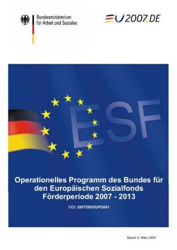 Operationelles Programm des Bundes für den Europäischen ...