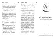 Das Programm im Internet - Internationale Jugendprogramm
