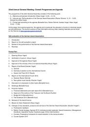 22nd Annual General Meeting: Overall Programme and Agenda