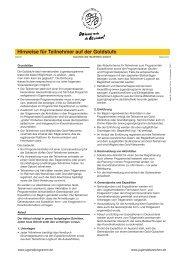 Hinweise für Gold-Teilnehmer - Internationale Jugendprogramm
