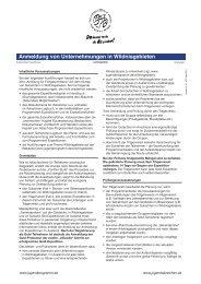 Anmeldung von Unternehmungen in ... - Jugendprogramm