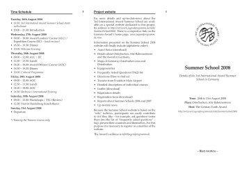 IASS 2008 - Internationale Jugendprogramm