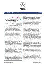 Nr. 3/2013 - Das Internationale Jugendprogramm