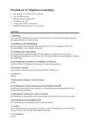 Protokoll zur 19. Mitgliederversammlung - Jugendprogramm