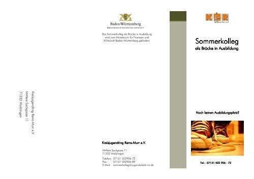 Flyer Sommerkolleg2 2012 - Katholisches Jugendreferat Rems Murr