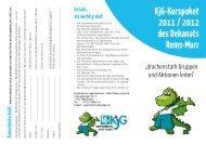 KjG-Kurspaket 2011 / 2012 des Dekanats Rems-Murr - Katholisches ...