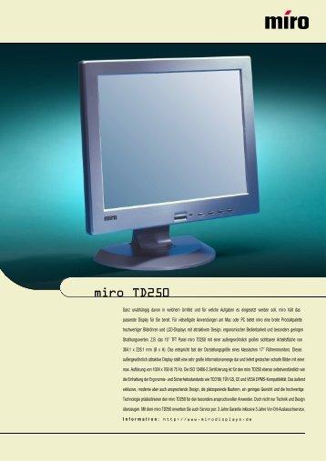 miro TD250 - Comiga Computersysteme Gmbh
