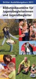 Bildungsbausteine für Jugendbegleiterinnen und Jugendbegleiter