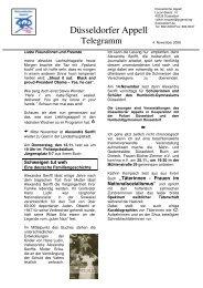 Newsletter 11-2008 - Jugendring Düsseldorf
