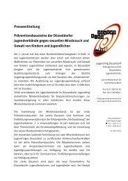 Pressemitteilung zum Download als pdf-Datei - Jugendring Düsseldorf