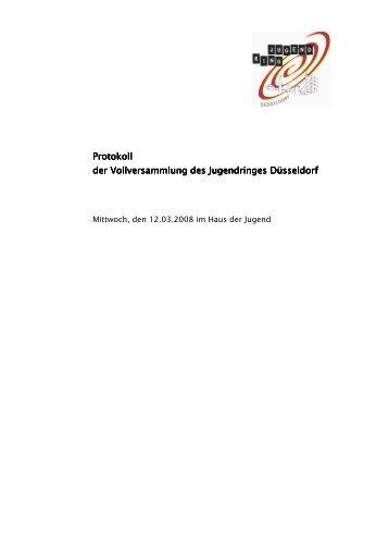Protokoll der Vollversammlung am 12.03.2008 - Jugendring ...