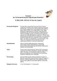 Protokoll der Vollversammlung am 10.03.2009 - Jugendring ...