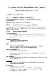 Protokoll der Vollversammlung am 03.12.2008 - Jugendring ...
