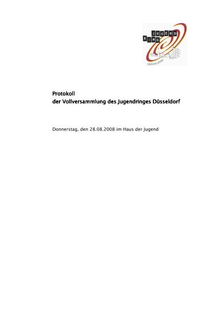 Protokoll der Vollversammlung am 28.08.2008 - Jugendring ...