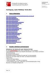 Linkliste zur Fachtagung Cybermobbing am 24.02 - Jugendring ...