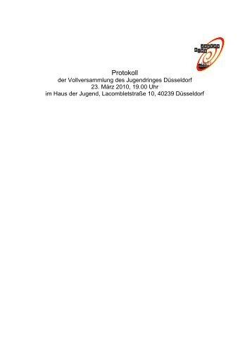 Protokoll der Vollversammlung am 23.03.2010 - Jugendring