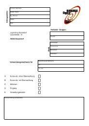 Formular für den Verwendungsnachweis - Jugendring Düsseldorf