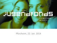 Förderung durch die Stiftung Jugendfonds Enzkreis - Jugendring ...