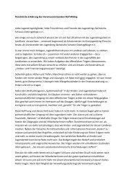 Persönliche Erklärung des Vereinsvorsitzenden Ralf Wätzig Liebe ...