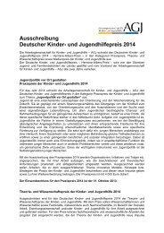 Ausschreibung Deutscher Kinder- und Jugendhilfepreis 2014