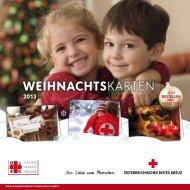 Weihnachtskarten 2013 - Österreichisches Jugendrotkreuz