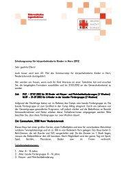 Erholungscamp für körperbehinderte Kinder in Horn 2012 Sehr ...