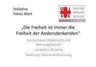 Initiative Freies Wort - Österreichisches Jugendrotkreuz