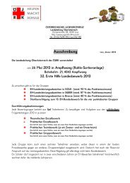 Rundschreiben 2007/08 - Österreichisches Jugendrotkreuz