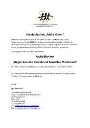 Fachbibliothek Frühe Hilfen - und Jugendschutz Thüringen eV