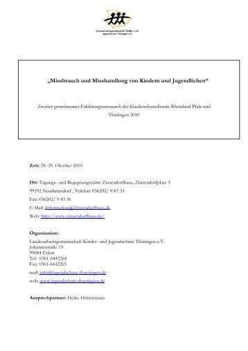 Ablauf 28.29 oktober KJSD - und Jugendschutz Thüringen eV