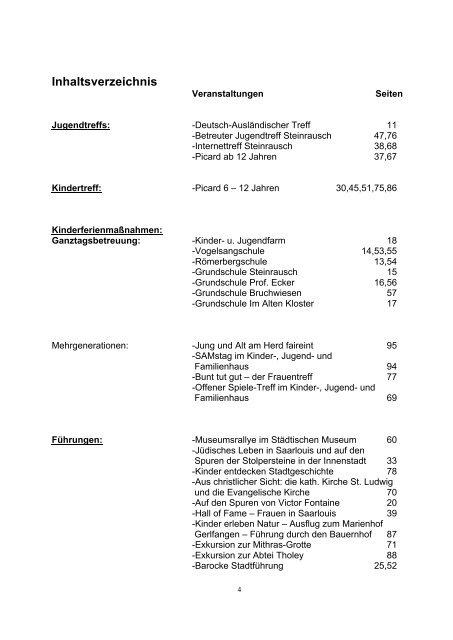 Programm Osterferientreff - Saarlouis