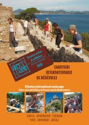 chantiers internationaux de bénévoles - Jugendserver-Saar