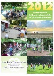Freizeitangebote 2012 - Landkreis Neunkirchen