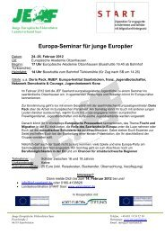 Europa-Seminar für junge Europäer - Jugendserver-Saar
