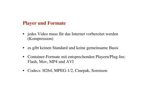 Workshop 6 Youtube, Saarclip und Co. - Jugendserver-Saar