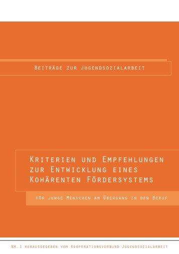 Kriterien und Empfehlungen zur Entwicklung eines Kohärenten ...