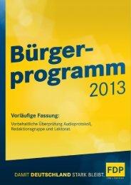 Bürgerprogramm 2013 - FDP